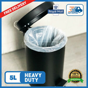5L Pedal Bin Liners Light Medium Heavy Duty 5 Litre Bags FAST FREE DELIVERY