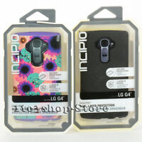 Incipio Dualpro Hard Shell Snap Cover Case for LG G4 Flowers Purple or Black