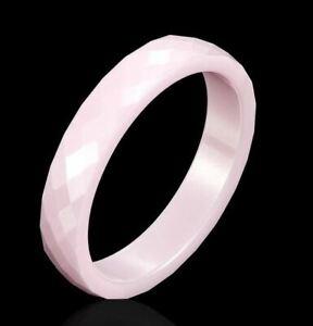 Ring Rosa Keramik 4 mm Breit  (25H)