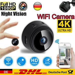 Wlan Funk Mini Überwachungskamera HD 1080P WIFI IP Kamera Innen/Außen Haus Spion