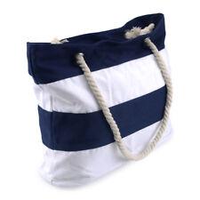 Beach Bag Streifen Strandtasche Schwimmtasche Badetasche Patchwork Saunatasche