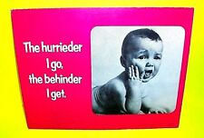 Vtg 1974 Mini Cardboard Counter Desktop Poster Store Display by April House Baby