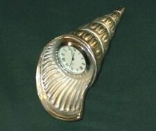 Spiral Shell Shaped Pewter Desk Clock From Kirk Stieff - New