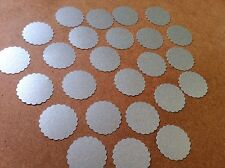 50 Adhesive Silver Pearlescent Circle/round Stickers Envelope Seal Embellishment