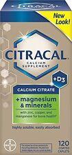 Citracal Calcium Citrate with Vitamin D Plus Magnesium 120 Each