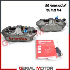 KIT Coppia Pinze Freno Radiali Brembo Racing M4 SX DX Monoblocco 108mm Pastiglie