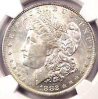 """1882-O/S Strong Morgan Silver Dollar $1 - NGC AU58 - Rare """"O/S"""" Variety!"""
