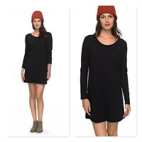 ROXY Womens Size L or 14 Black Just Simple Long Sleeve Dress NEW + TAGS