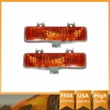 2x Front Turn Signal/Parking Light Lamp Assembly TYC For 1982-1993 Chevy S10
