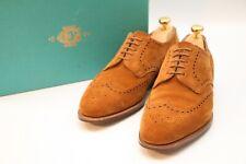 Edward Green Sandringham Men's Tan Suede Brogue Shoes UK 8 RRP £935