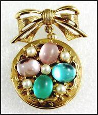 intage Victorian / Art Nouveau Revival Locket Pendant Brooch 1928 Jewelry Co