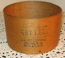 VINTAGE WOOD 1 QT GRAIN MEASURE NAILED SEAM SIGNED EB FRYE WILTON NH