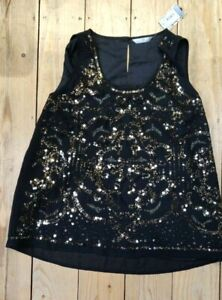 BNWT TU LINED SEQUIN TOP SIZE 20