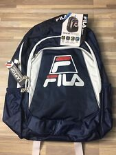76b5ee4dea Fila Filatech Cruise Big Logo Backpack Red White Blue Laptop Compartment NWT