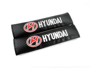 2PCS Carbon Fiber Car Seat Belt Cover Soft Shoulder Pads Cushion fit for HYUNDAI