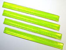 4 Stück Reflektor Klickband Warnband Snap Armband Hosenklammer Reflektorband