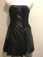 Bebe Leather Strapless Dress