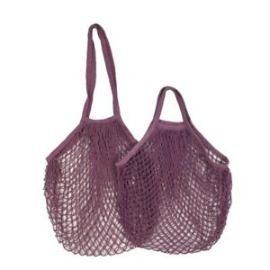Portable Reusable Produce Bags Cotton Mesh Bag for Fruit Vegetable Grocery Bags