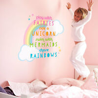 Unicorn quote wall sticker | Girls room décor | Wall decals