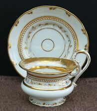Biedermeier Porzellan Prunktasse Volutenhenkel u. Goldverzierung um 1840 !! Nr.1