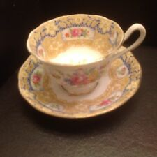Royal Albert Valentine floral ~ lace and bow bone China Tea Cup & Saucer AS IS