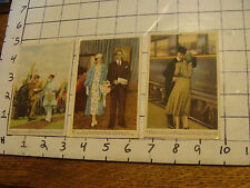 COTE D'OR chocolat belge cards (3 cards) group 2 green back