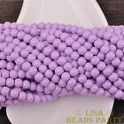 New 50pcs 6mm Round Glass Loose Spacer Beads Jewelry Findings Light Purple