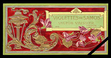 Vintage French Perfume Label Savon Art Nouveau 1900 Samos Victor Vaissier Paris