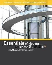 NEW Essentials of Modern Business Statistics with Microsoft Excel by Anderson !!
