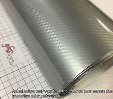 5d Brillo Ultra Brillante Plata 1520mm X 1000mm De Fibra De Carbono Vinilo Wrap pegatina