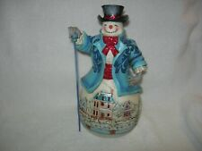 "Jim Shore White Woodland ""Believe in Holiday Magic"" Snowman"