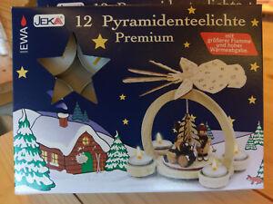 Pyramiden-Teelichter, Teelichter, Kerzen, Pyramiden (12 / 36 / 60 / 108 Stück)
