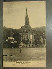 cpa 68 thann eglise trous des marmites campagne 1914 1917 guerre