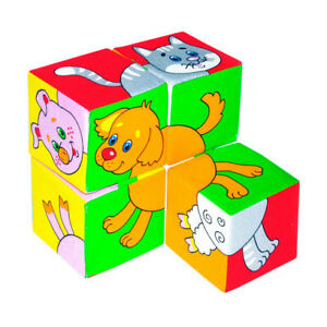 Domestic Animals Soft Building Blocks.Safe and Non-Toxic Materials.Game For Kids