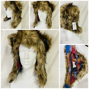 spirithoods Faux Grizzly Bear Trapper Hat