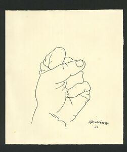 EDUARDO CHILLIDA - ink on original paper of 80's