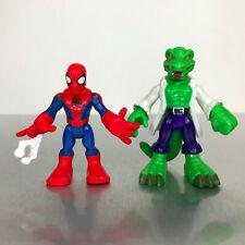 Playskool Marvel Super Hero Adventures WEB SPIDER-MAN & LIZARD 2-Pack set