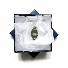 Vintage Glass Pendant - Olive Green Glass Necklace - Boho Jewellery - Jewellery