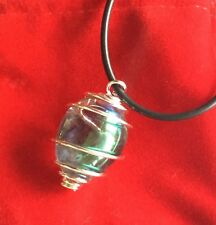 Angel Aura Quartz Crystal Pendant Tumble Healing Psychic Crown Opal Rainbow