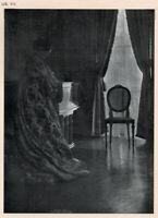 GERTRUDE KASEBIER Portrait of Mrs R Collier, Vintage 1905 Halftone, Pictorialism