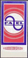 POLAND 1973 Matchbox Label - Cat.A#024  Factory FA~EL.