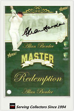 2009-10 Select Cricket Cards The Masters Signature Redemption Alan Border-Rare!
