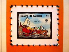 Goofy & Donald Duck Grenadines Seoul 1988 Disney Stamp Blank Greeting Card