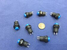 8 Pieces BLUE Momentary 12mm pushbutton Switch round push button 12v on off b22