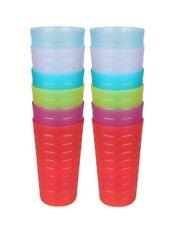 RAINBOW 12PK Clear Break Resistant Drinking Cups Glasses 22 OZ PLASTIC TUMBLERS
