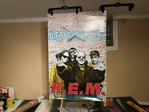 """R.E.M – Monster  1995 """"Promotional poster"""" - VERY RARE"""