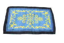 """British Arts and crafts handmade wool rug in sky blue colour  5.4'""""x2.3'"""