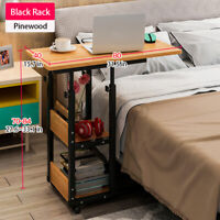Mobile Laptop Study Desk Stand Adjustable Height Bedside Sofa Table
