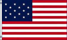 New listing 3x5 15 Stars Star Spangled Banner Historical Flag Polyester America Usa
