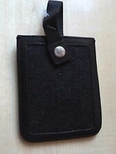 Bnwt new Fred Perry smart phone case SM1716-charbon cuir & feutre